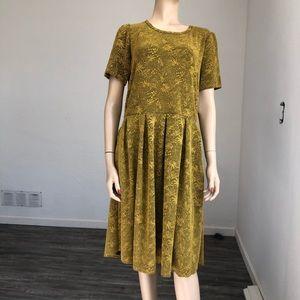 LULAROE gold & black Amelia dress  size:2XL